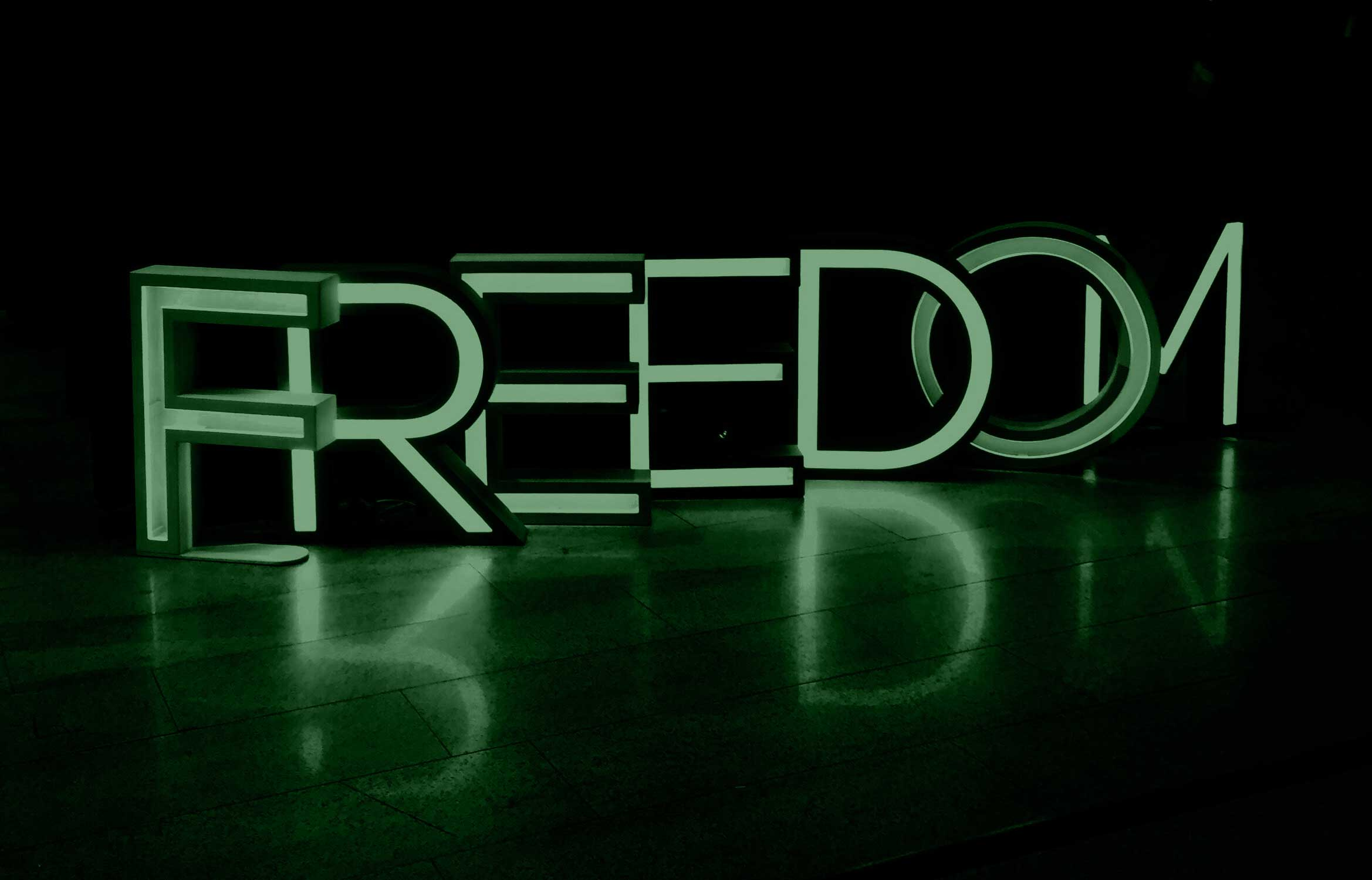 image of the word freedom to represent what it feels like to get out of debt