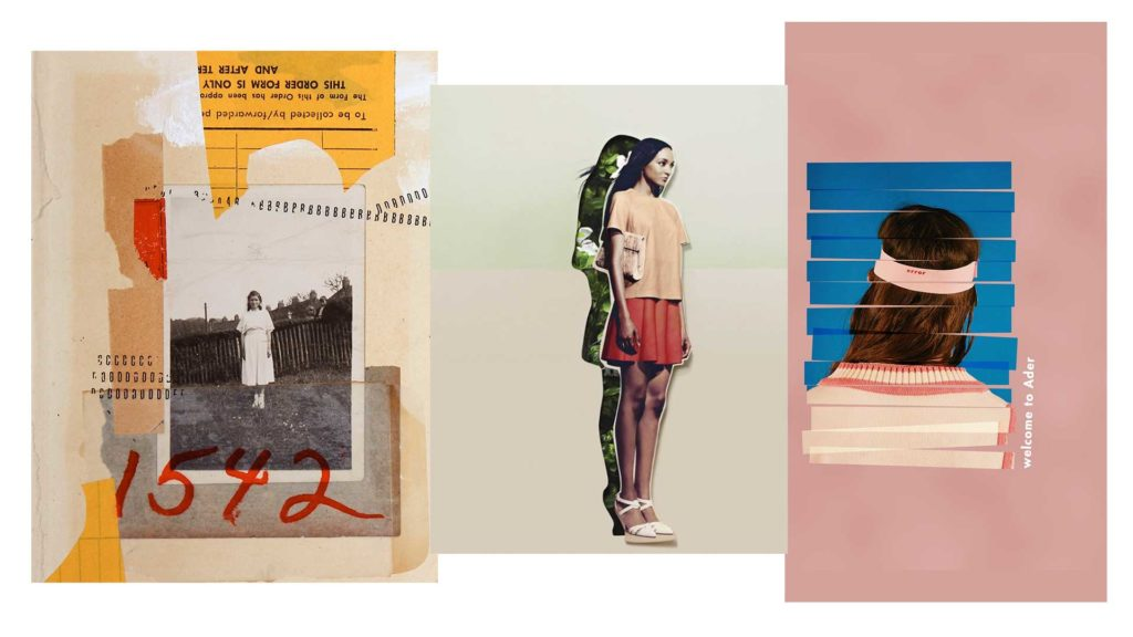 Mixed media collages