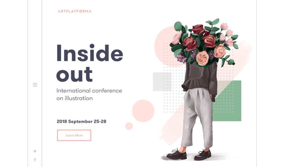 A website with mixed media design to showcase 2021 web design trends