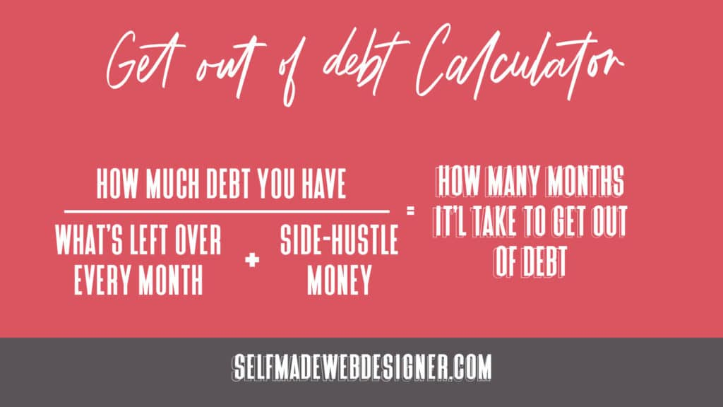 Get out of debt calculator with side-hustle
